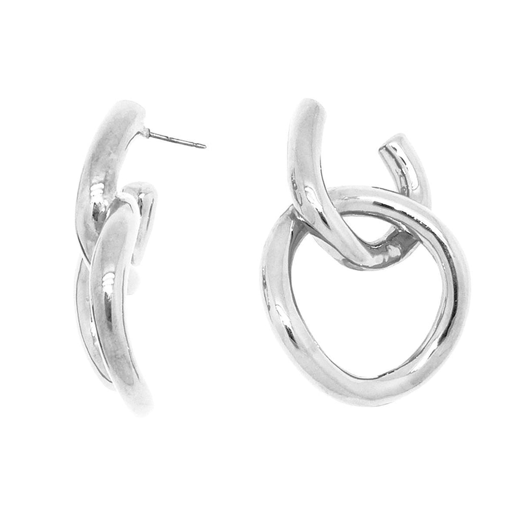 Simon Sebbag Sterling Silver Double Open Circle Earring E2950