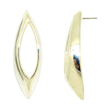 Simon Sebbag Sculptured Open Oval Sterling Silver Pierced Earrings Post E2960 - ILoveThatGift