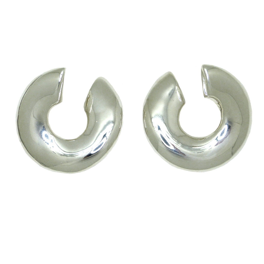 Simon Sebbag Sterling Silver Curved Abstract Pierced Earring E2986 - ILoveThatGift