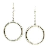 Simon Sebbag Sterling Silver Chain Wire Open Circle  Dangle Earrings EC102