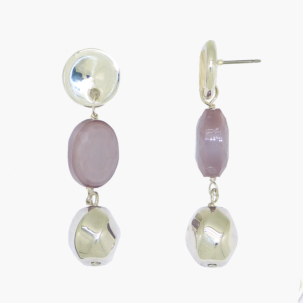 Simon Sebbag Sterling Silver  Lilac Oval Crystal Drop Earrings EC129LOC - ILoveThatGift
