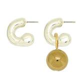 Simon Sebbag Sterling Silver Gold Huggie Hoops Drop Earrings Wear 2 Ways EC78V - ILoveThatGift