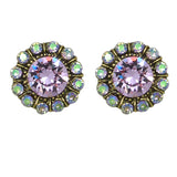 Anne Koplik Violet Elsie Princess Swarovski Crystal Earrings ER4718VIO