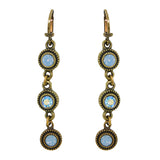 Anne Koplik Gold Air Opal Blue Stacked Drops Earrings with Swarovski Crystal ER4722AIR - ILoveThatGift