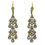 Anne Koplik Gold Paradise Shine Drops Earrings with Swarovski Crystal ER475PDS