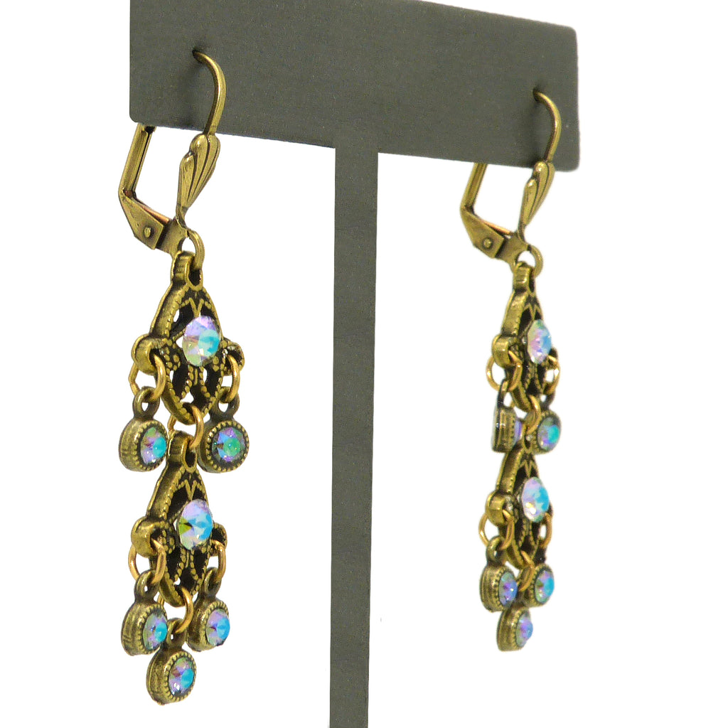 Anne Koplik Gold Paradise Shine Drops Earrings with Swarovski Crystal ER475PDS - ILoveThatGift