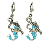 Anne Koplik Roxy Mermaid Drop Swarovski Crystal Earrings ES3147TUR