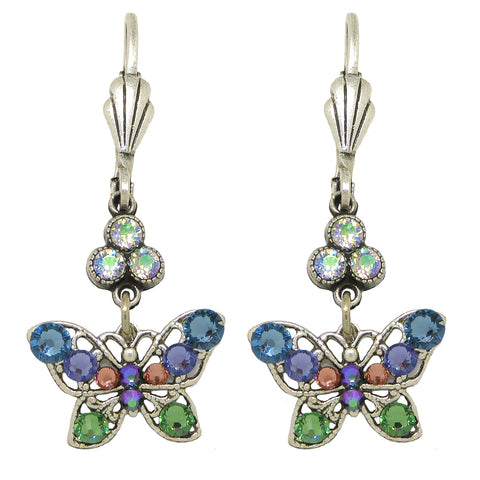 Anne Koplik Small Openwork Blue Butterfly Earrings with Swarovski Crystal ES3176DEN - ILoveThatGift