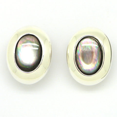 Simon Sebbag Sterling Silver Black Tahitian Pearl Clip Earrings ES35BTP
