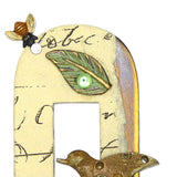 Mullanium Jewelry Framed Steampunk Bird in Tree Pin Handmade Artists Jim Tori Mullan - ILoveThatGift