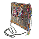 Mary Frances Forget Me Not Beaded Elephant Crossbody Handbag - ILoveThatGift