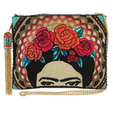 Mary Frances Frida Beaded Embroidered Crossbody Clutch Handbag - ILoveThatGift
