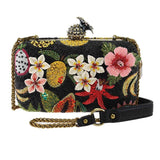 Mary Frances Fruitful Life Beaded Cross body Handbag