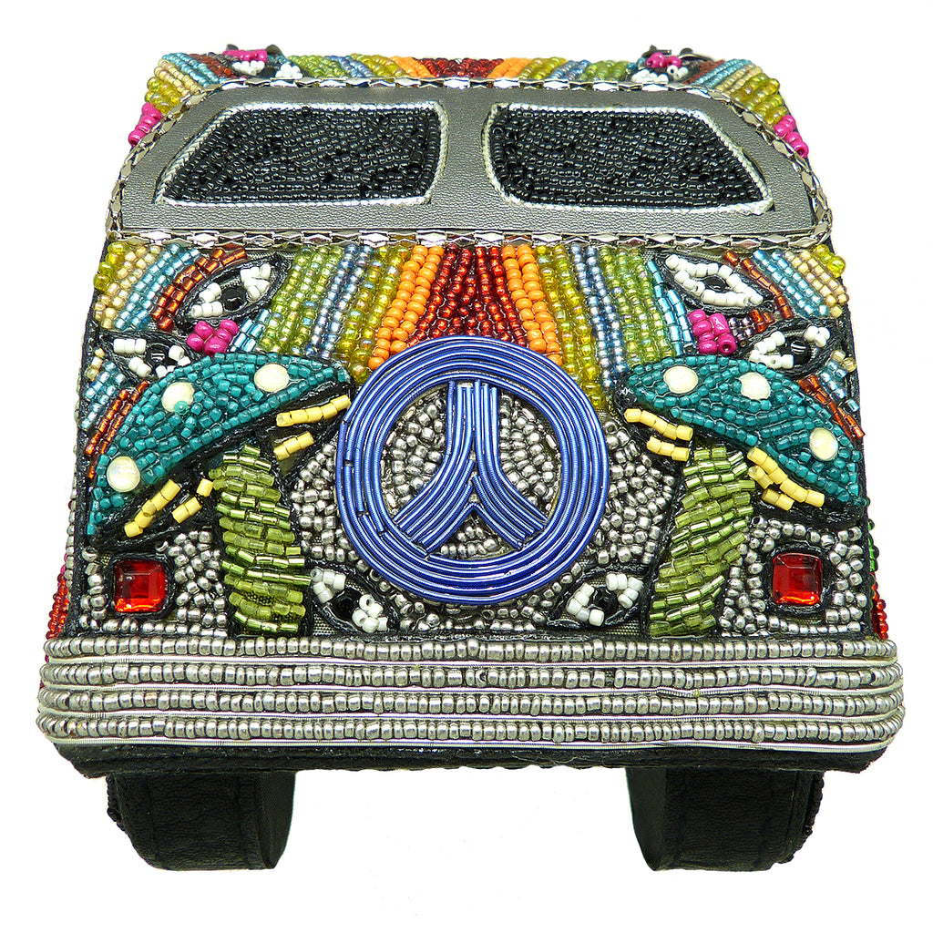 Mary Frances It's A Trip Embellished Bus Top-Handle Bag VW Bus Hippie Van 18-432 - ILoveThatGift