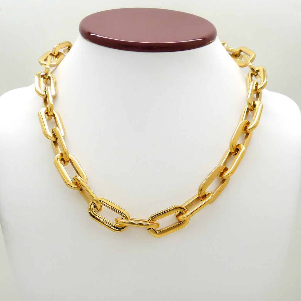 Jenna Link Paperclip Gold Link Necklace by Sahira - ILoveThatGift