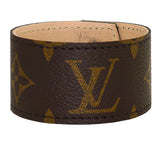 Repurposed Louis Vuitton Monogram LV Leather Cuff Bracelet Suzy T Designs