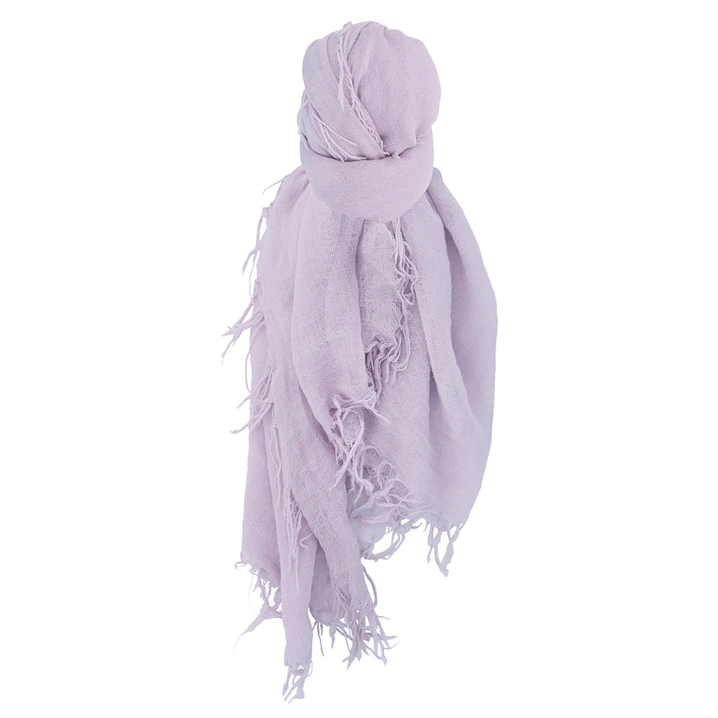 Chan Luu Scarf Soft Cashmere Silk Wrap Lavender Purple & Duster Bag - ILoveThatGift