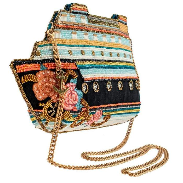 Mary Frances Cruise Control Beaded Cruise Ship Crossbody Handbag - ILoveThatGift