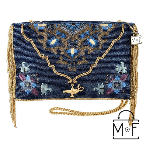 Mary Frances Magic Carpet Beaded Cross body Clutch Disney Aladdin Princess Jasmin