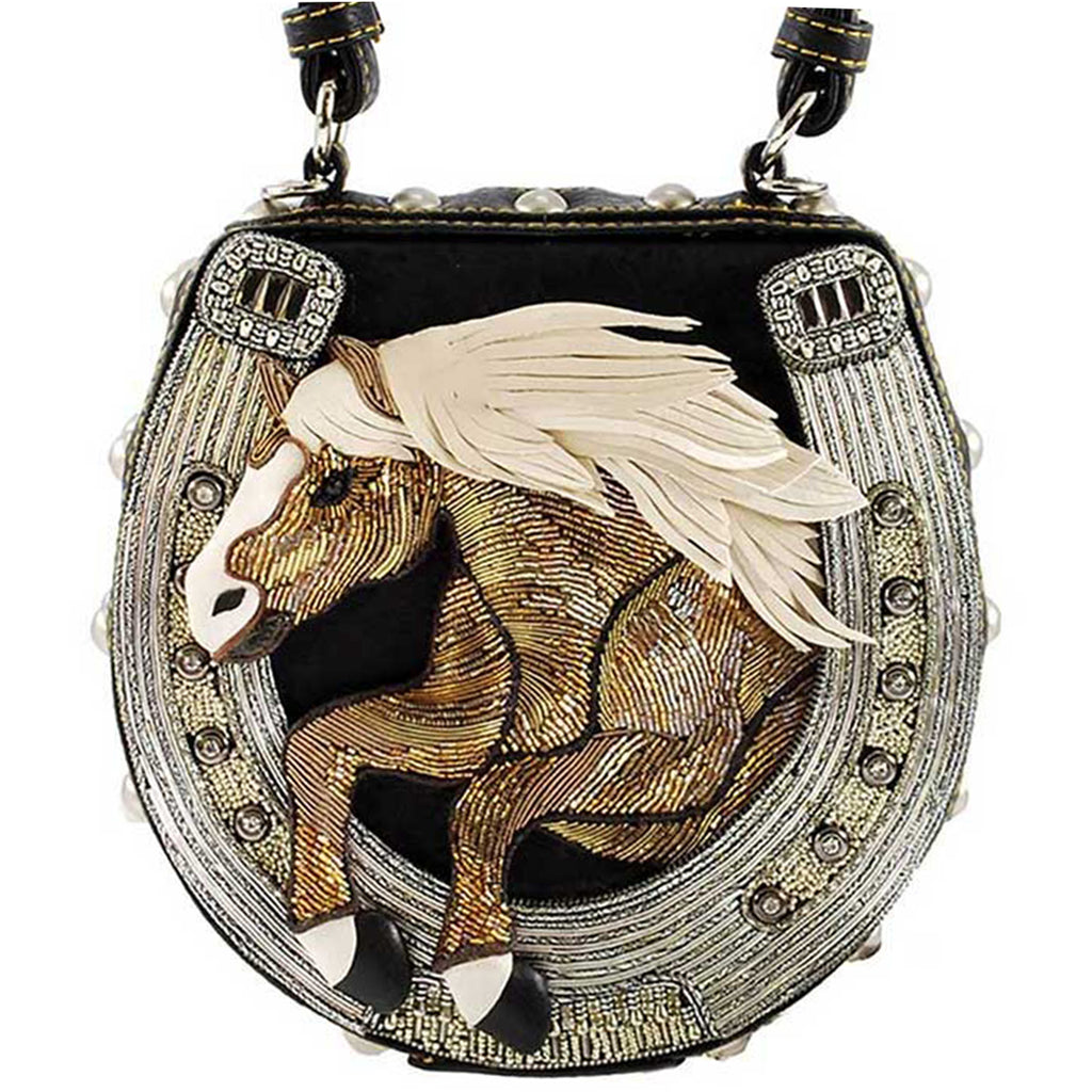 Mary Frances Mane Stay Embellished Horse Top Handle Bag Riding Equestrian 17-356 - ILoveThatGift