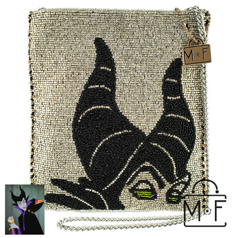Mary Frances Maleficent Beaded Cross body Handbag Disney Sleeping Beauty