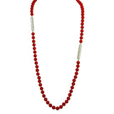 Simon Sebbag Red Coated Shell Sterling Silver Tube Necklace NB345RCS36 - ILoveThatGift