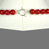 Simon Sebbag Red Coated Shell Sterling Silver Tube Necklace NB345RCS36