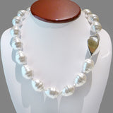 Simon Sebbag White Pearlized Baroque Necklace Sterling Silver 925 Station NB640BSP - ILoveThatGift