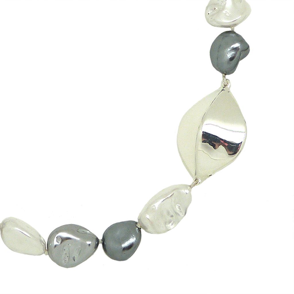 Simon Sebbag White Gray Shell Pearl Nugget Sterling Silver Necklace NB640WGSN - ILoveThatGift
