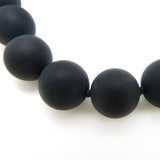 Simon Sebbag Chunky Matte Black Onyx Necklace Sterling Silver 925 Round Bead NB760MBO - ILoveThatGift