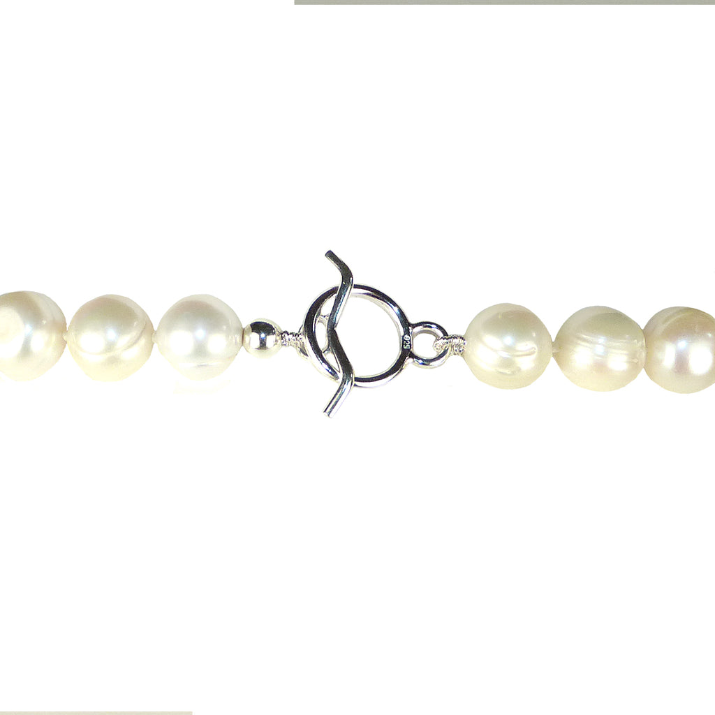 Simon Sebbag Sterling Silver Pearl Long Drop Necklace Pendant NB765P - ILoveThatGift