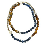 Tiger's Eye Blue Sodalite Jasper Sterling Silver Simon Sebbag Bead Necklace NB871TEF40 - ILoveThatGift