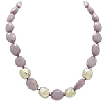 Simon Sebbag Sterling Alternating 4 Twisted Beads Lilac Purple Crystal Necklace NB888LOC