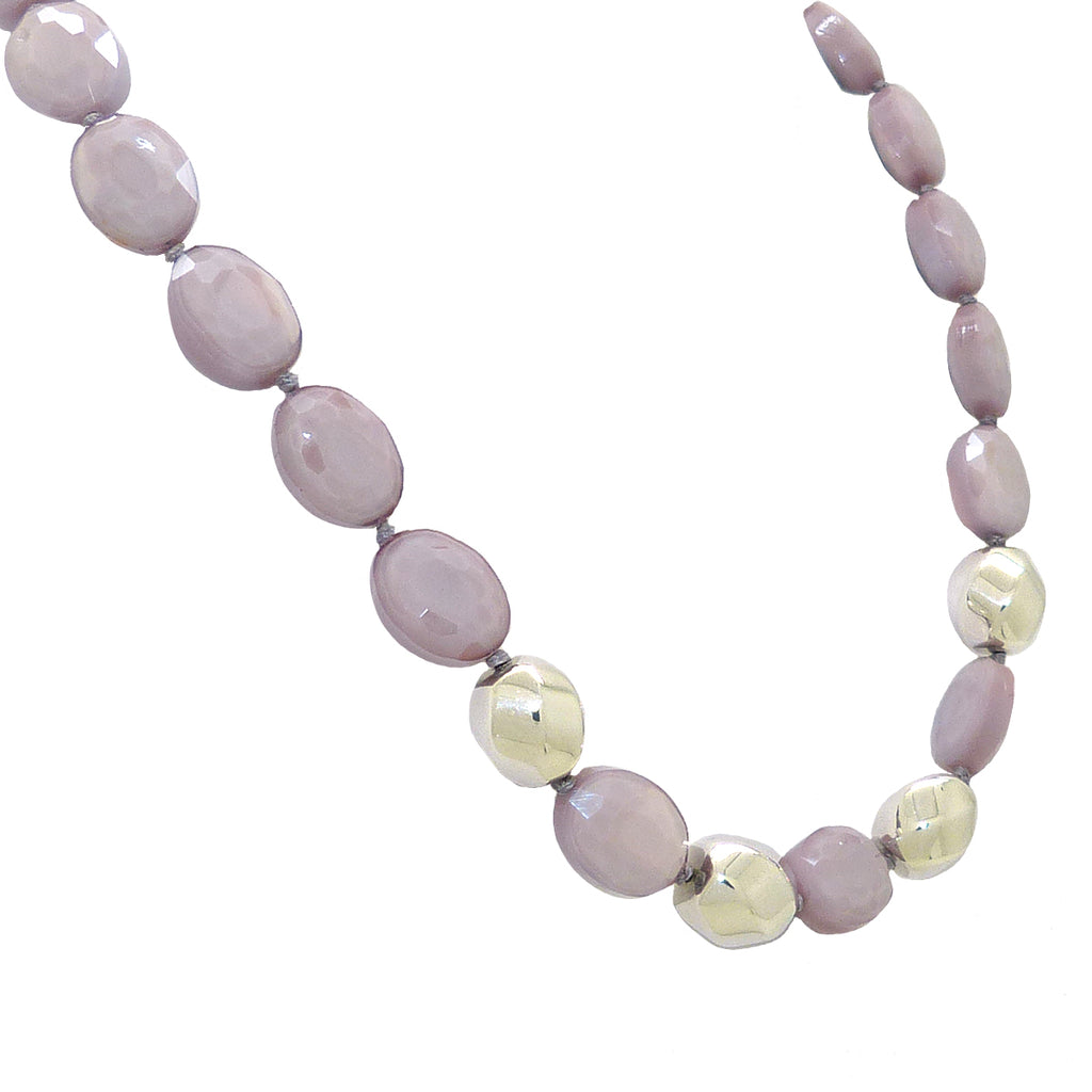 Simon Sebbag Sterling Alternating 4 Twisted Beads Lilac Purple Crystal Necklace NB888LOC - ILoveThatGift