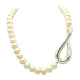 Simon Sebbag Sterling Silver Twist Swirl with Pearl Bead Necklace 18.5 inches NB929PP - ILoveThatGift