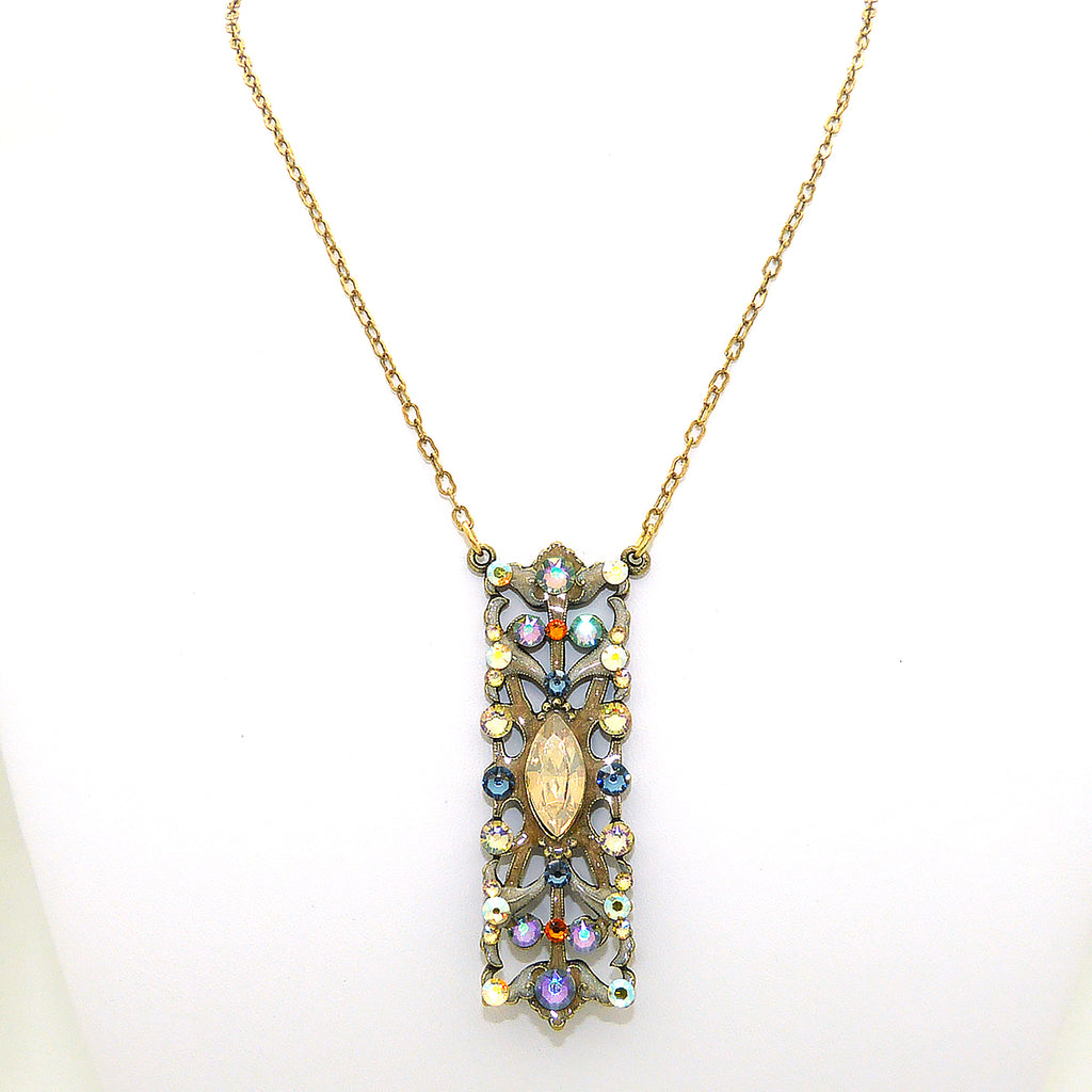 Anne Koplik Light Colorado Topaz Art Nouveau Necklace Swarovski Crystal NK4637LCT - ILoveThatGift