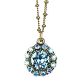 Anne Koplik Aqua Blue Marley Princess Pendant Swarovski Crystal Necklace NK4718AQU - ILoveThatGift