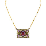 Anne Koplik Antique Pink Red Stoned Flying Carpet Necklace NK4747DRD - ILoveThatGift