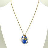 Anne Koplik Blue Bird Dove Pearl Jumble Pendant Necklace Swarovski Crystals NKJ103BLU - ILoveThatGift