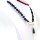 Simon Sebbag Sterling Silver Hook Round Black Bead Baroque Pearl Necklace NP27BLKBSP