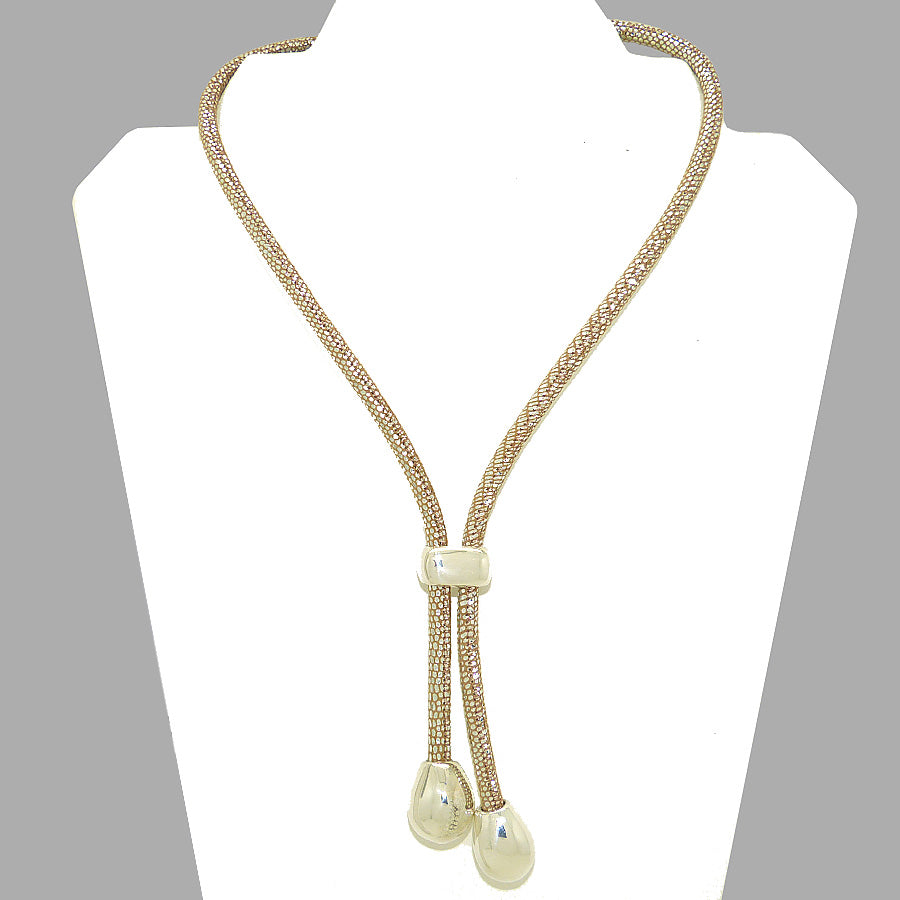 Simon Sebbag Sterling Silver Bead Leather Y Necklace Lariat NS108PRLSS - ILoveThatGift