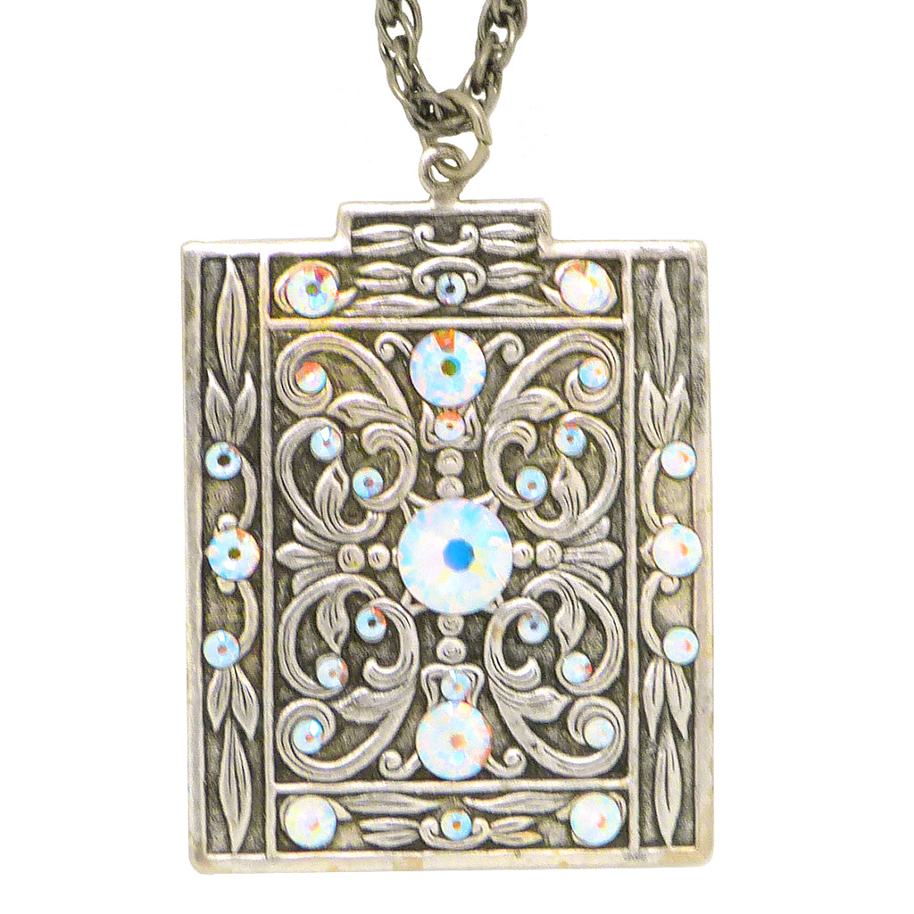 Anne Koplik Shimmering Art Deco Pendant Necklace with Swarovski Crystals NS3142CAB - ILoveThatGift