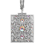 Anne Koplik Shimmering Art Deco Pendant Necklace with Swarovski Crystals NS3142CAB