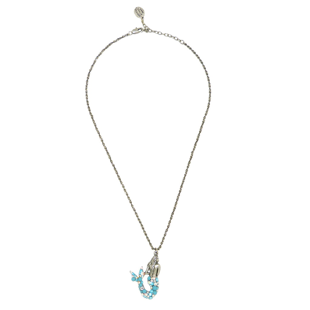 Anne Koplik Koa Mermaid Swarovski Crystal Pendant Necklace NS3147ATUR - ILoveThatGift