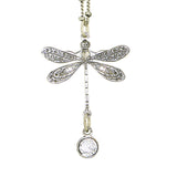 Anne Koplik Swarovski Crystal Single Dragonfly Necklace NSG402LTU Silver - ILoveThatGift