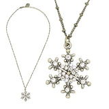 Anne Koplik Snowflake Pendant Necklace Silver Plated with Swarovski Crystals NSG417CRY