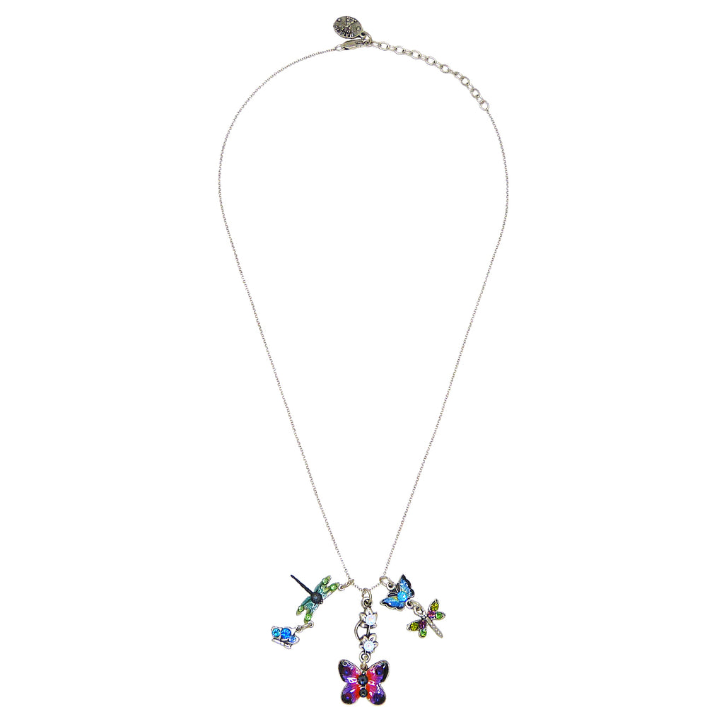 Anne Koplik Dragonfly Butterfly Charm Pendant Necklace Swarovski Crystals NSJ213FLY - ILoveThatGift