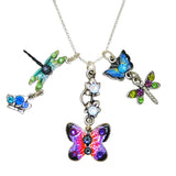 Anne Koplik Dragonfly Butterfly Charm Pendant Necklace Swarovski Crystals NSJ213FLY
