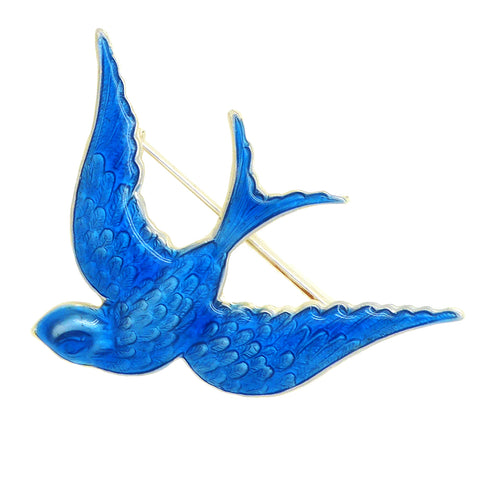 Anne Koplik Blue Bird of Happiness Bluebird Pin Brooch PN5254 - ILoveThatGift