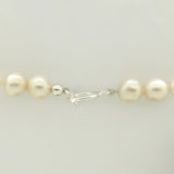 White Pearl with Quilted Sterling Silver Simon Sebbag Bar Hanging Pearl Necklace PN577Pearl